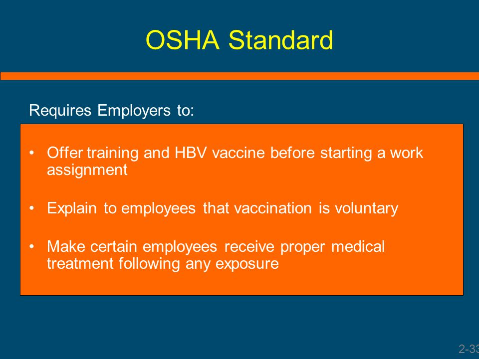 OSHA Standard Requires Employers to: