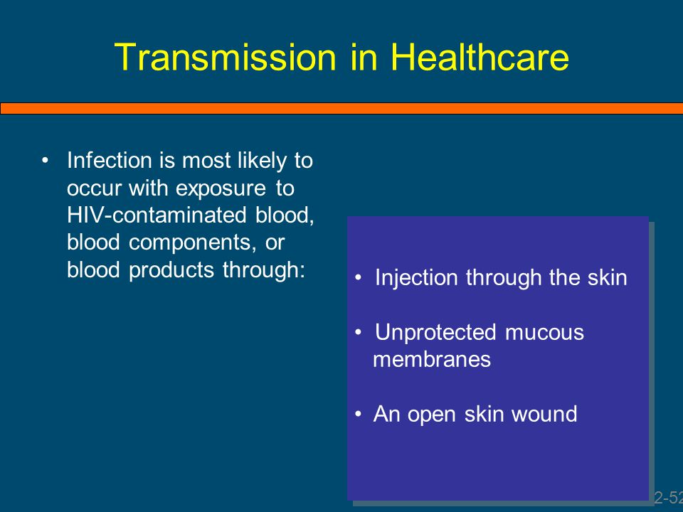 Transmission in Healthcare