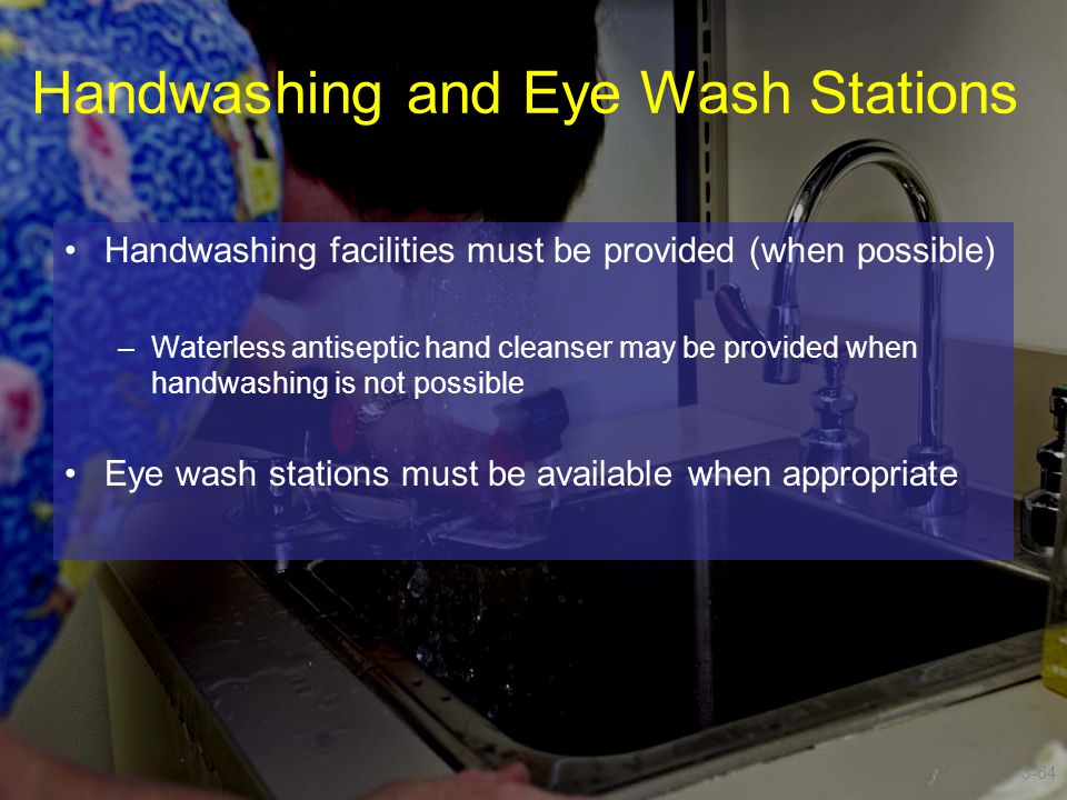 Handwashing and Eye Wash Stations