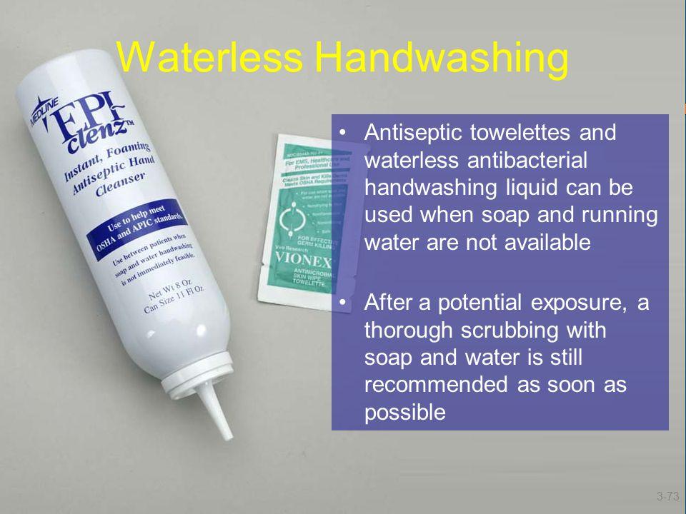 Waterless Handwashing