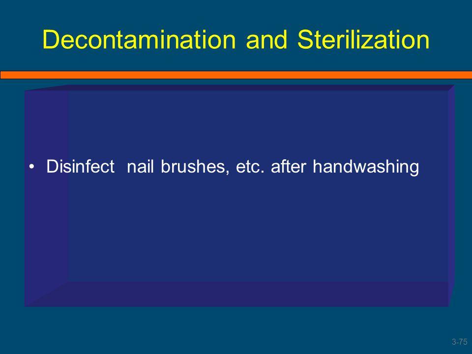 Decontamination and Sterilization