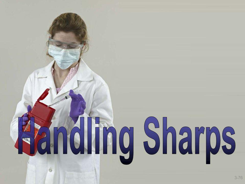 Handling Sharps Handling Sharps 3-76