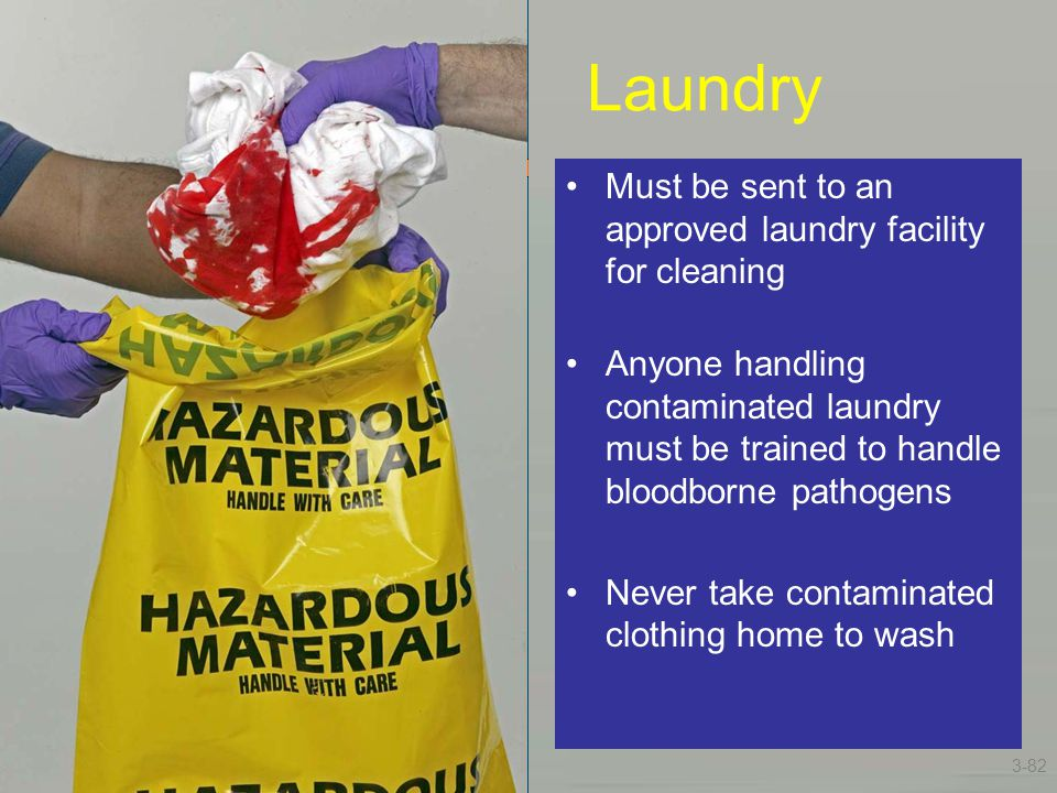 Laundry Must be sent to an approved laundry facility for cleaning