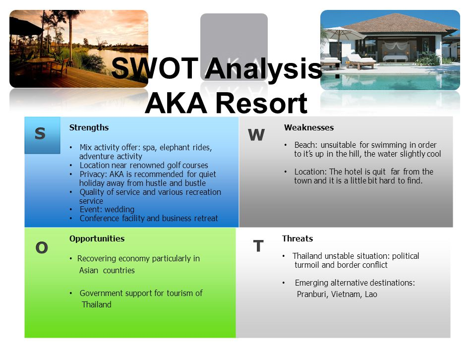 SWOT Analysis : AKA Resort