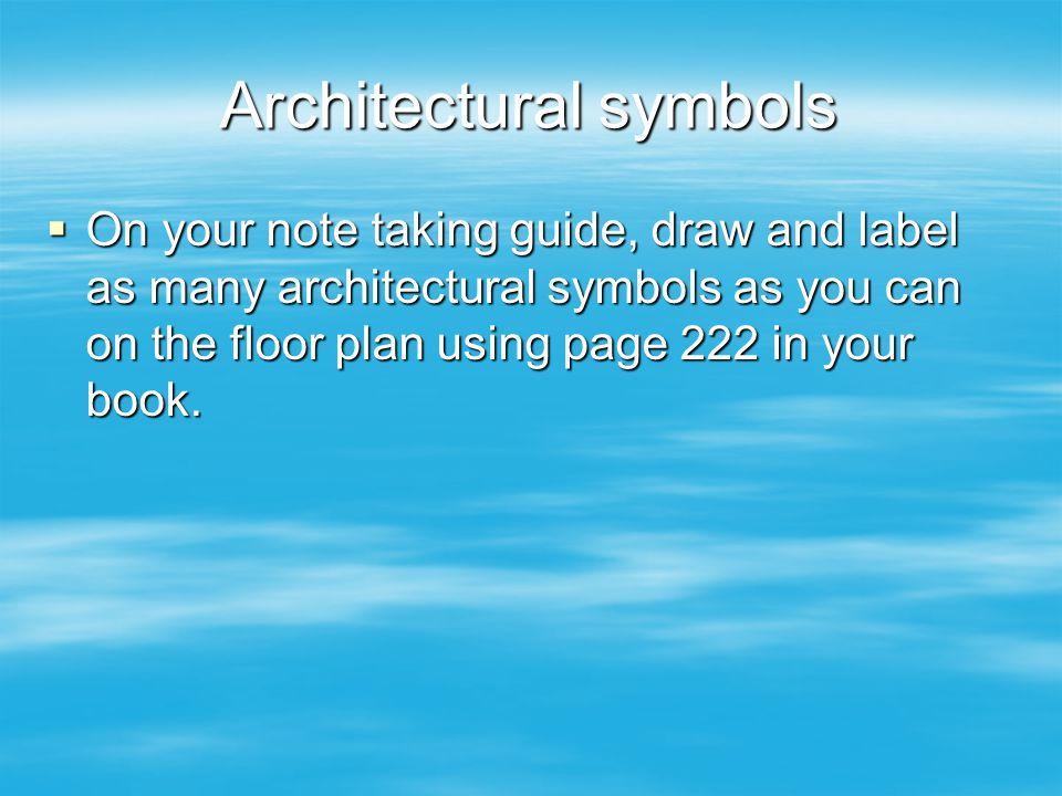 Architectural symbols