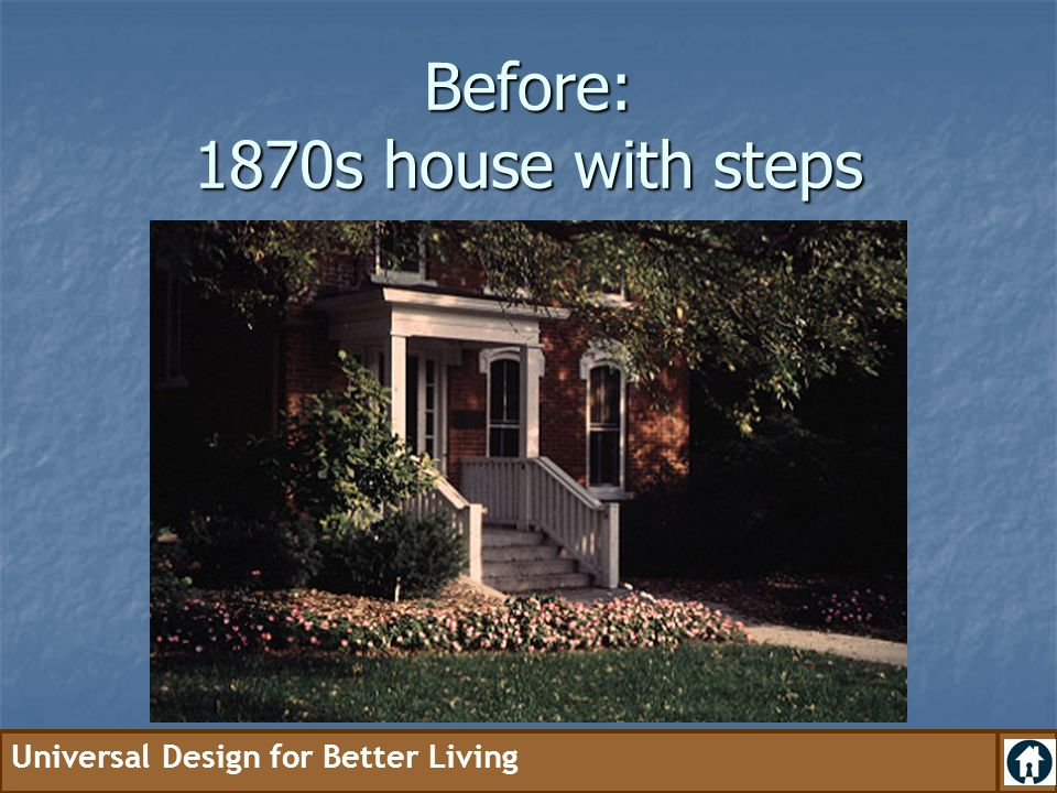 Before: 1870s house with steps