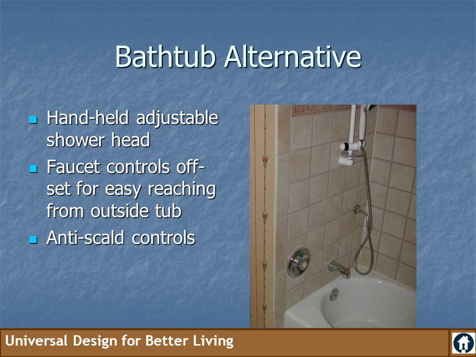 Bathtub Alternative Hand-held adjustable shower head