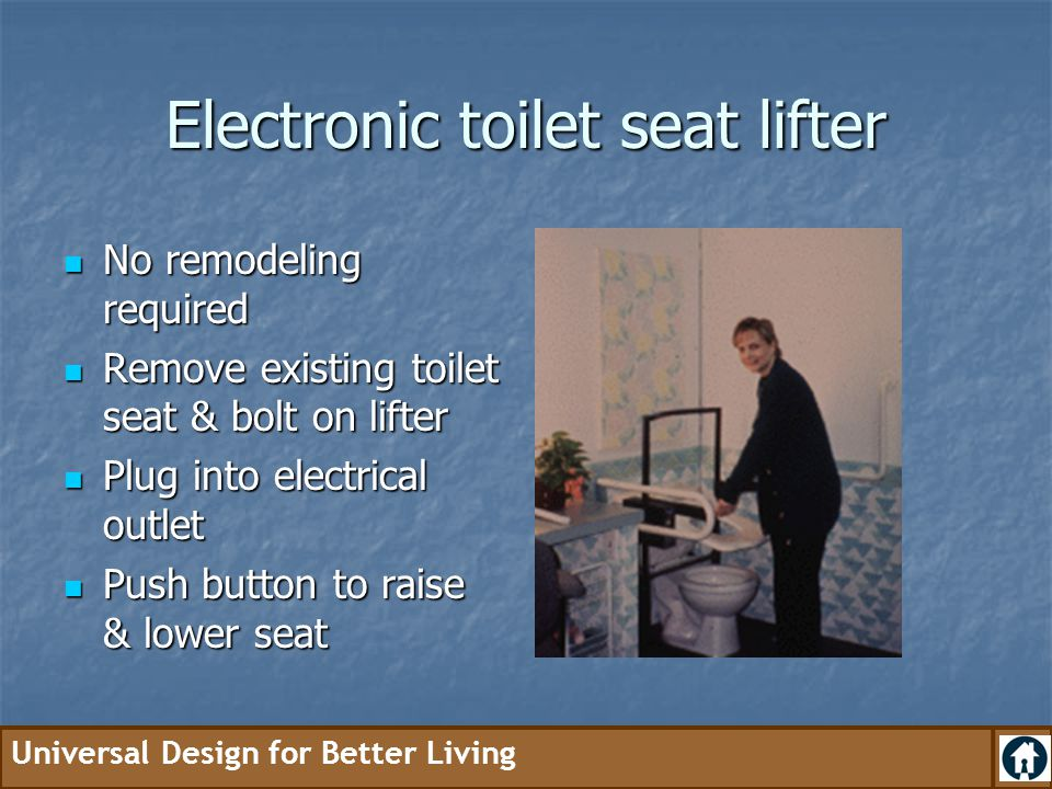 Electronic toilet seat lifter