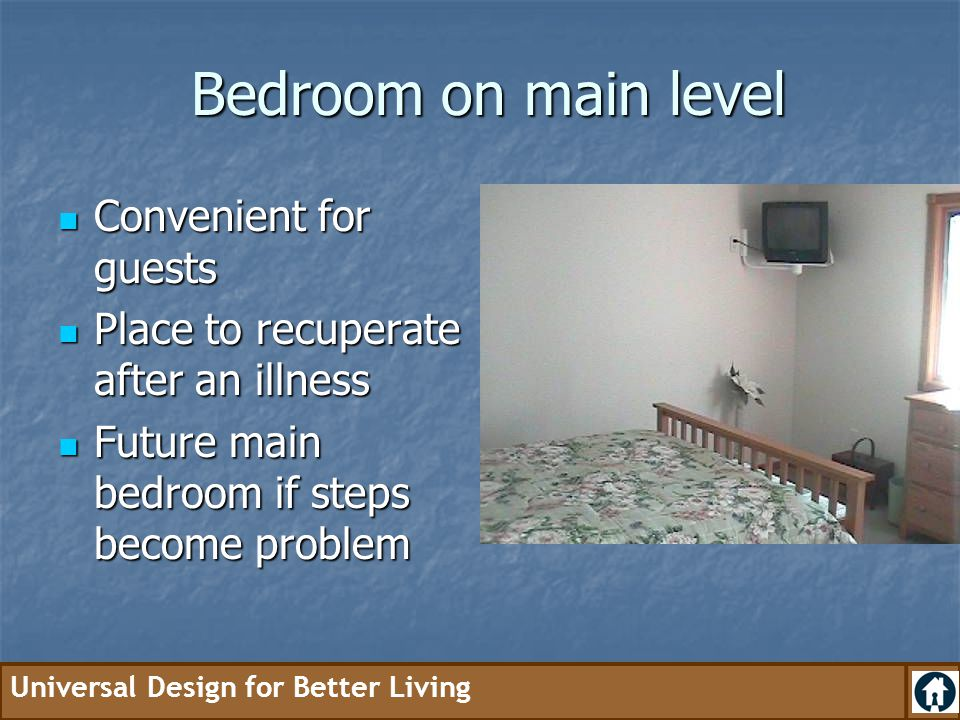 Bedroom on main level Convenient for guests
