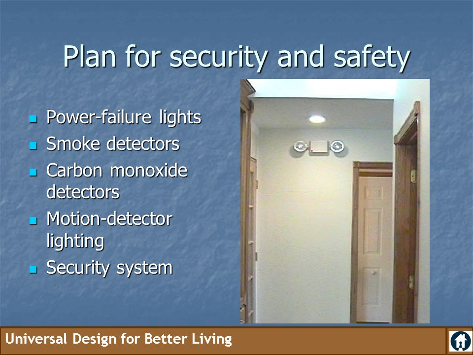 Plan for security and safety