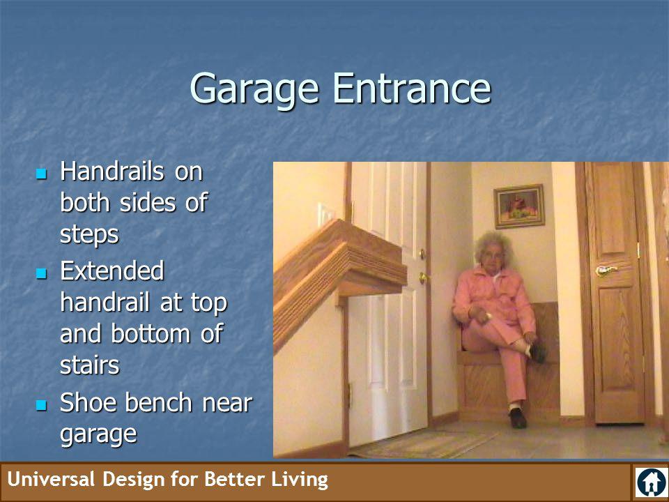Garage Entrance Handrails on both sides of steps