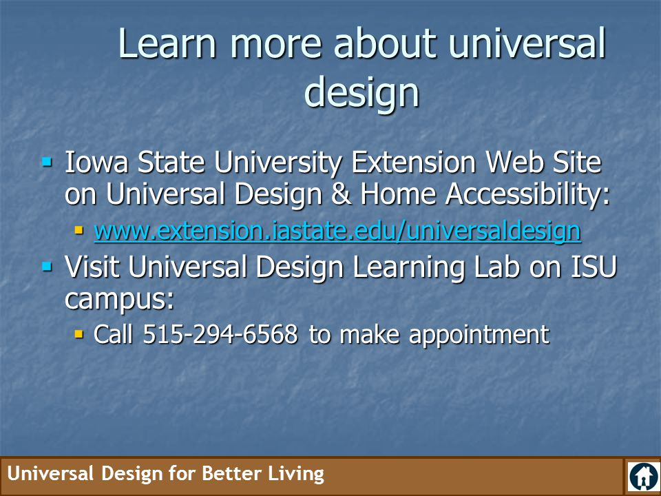 Learn more about universal design