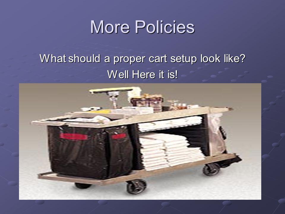 What should a proper cart setup look like