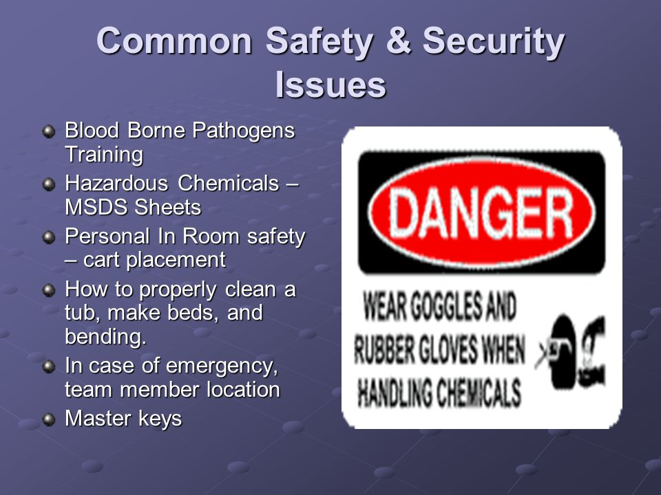 Common Safety & Security Issues