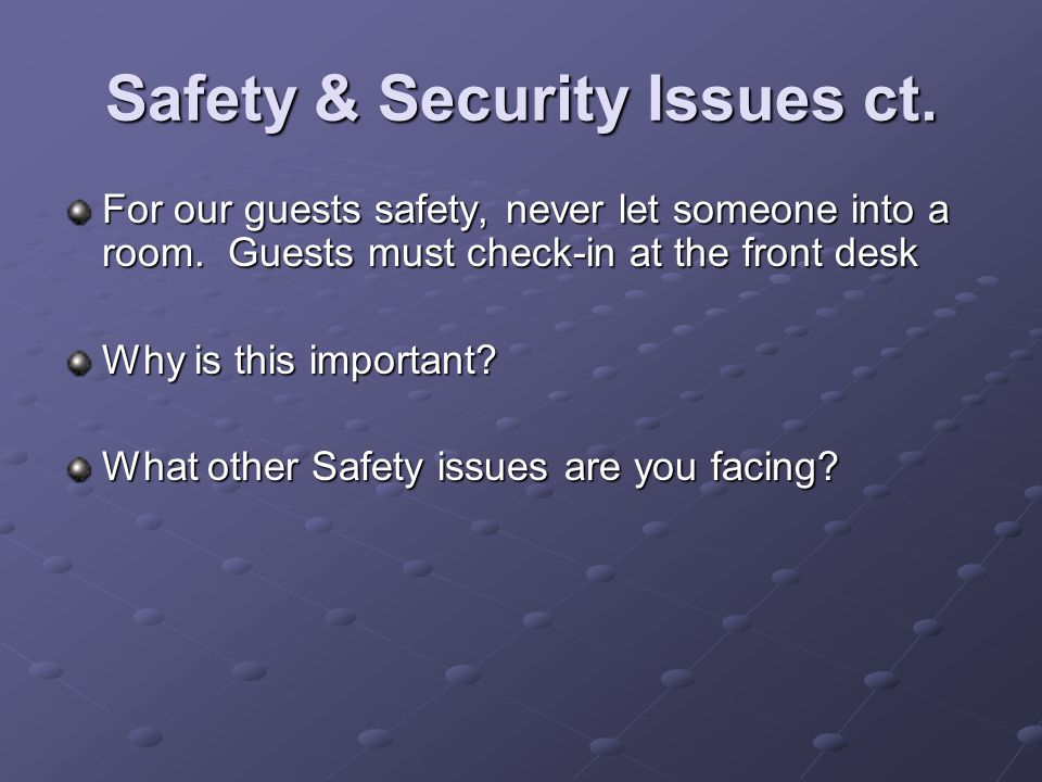 Safety & Security Issues ct.