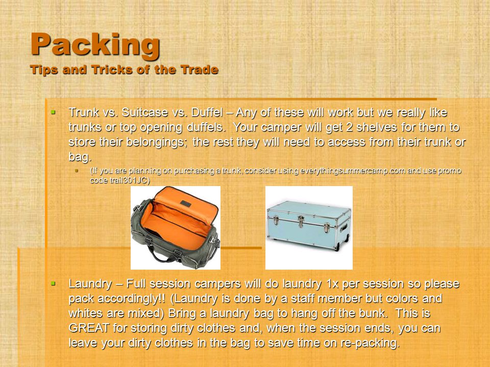 Packing Tips and Tricks of the Trade