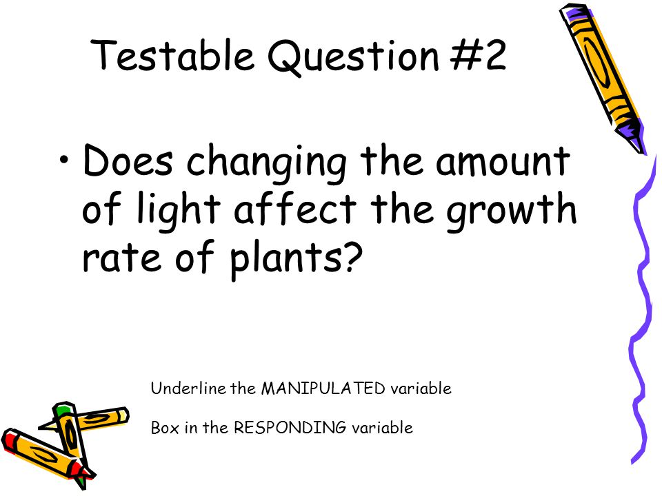 Does changing the amount of light affect the growth rate of plants