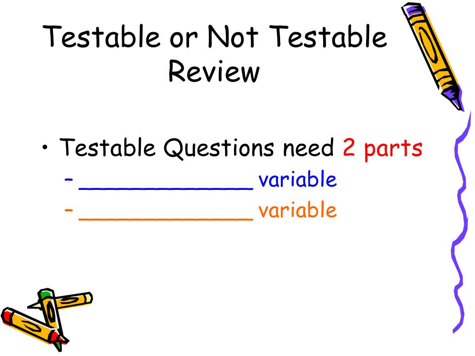 Testable or Not Testable Review