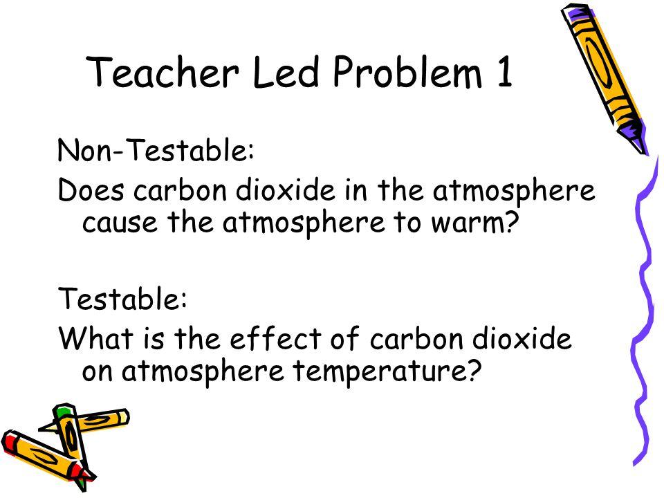 Teacher Led Problem 1 Non-Testable: