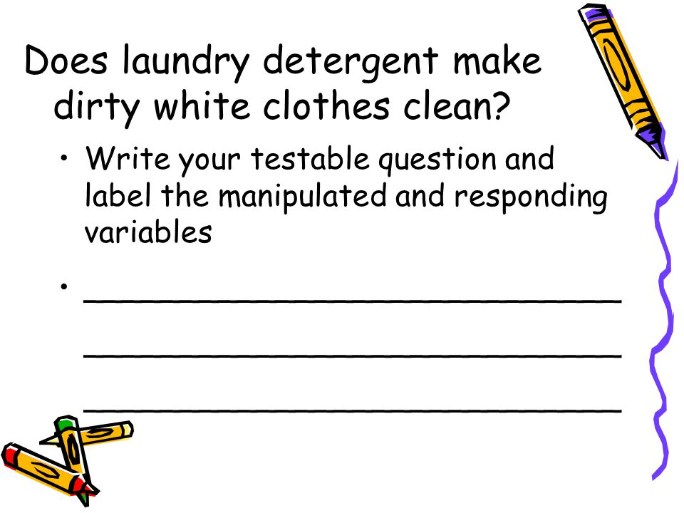Does laundry detergent make dirty white clothes clean