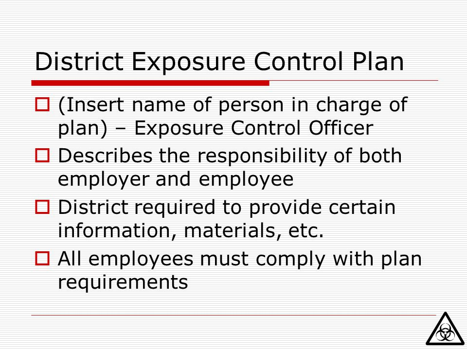 District Exposure Control Plan