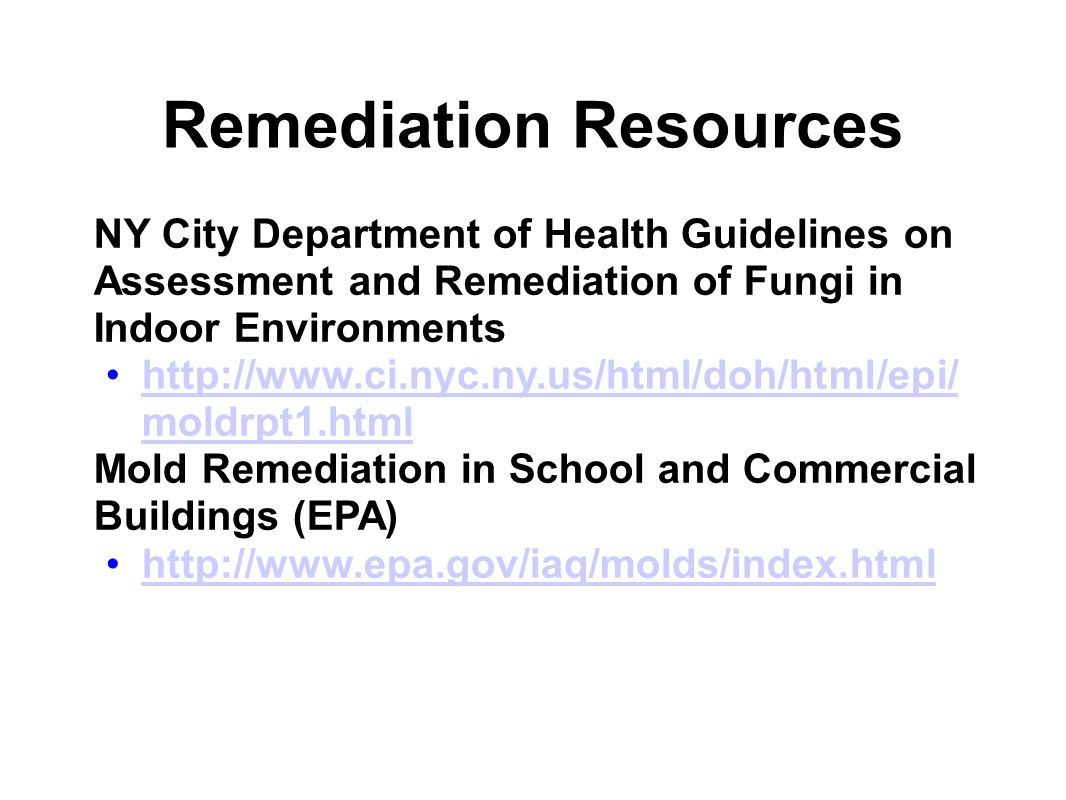 Remediation Resources
