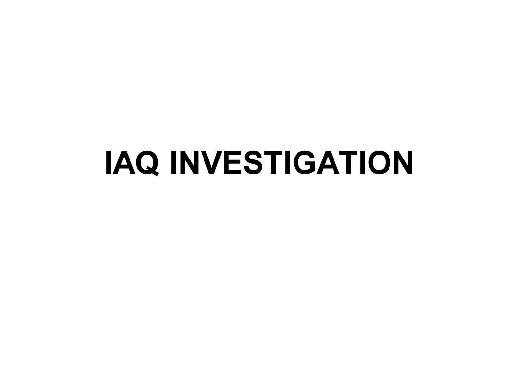 IAQ INVESTIGATION
