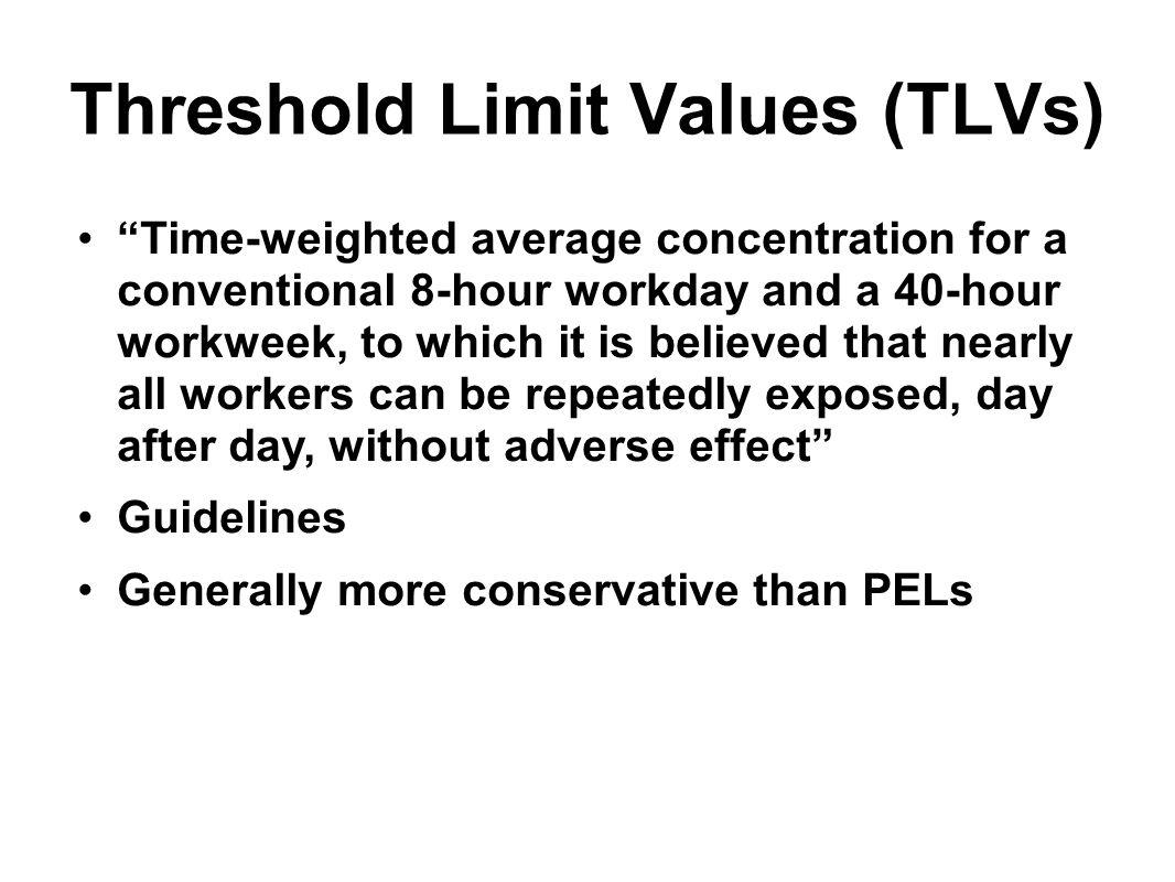 Threshold Limit Values (TLVs)