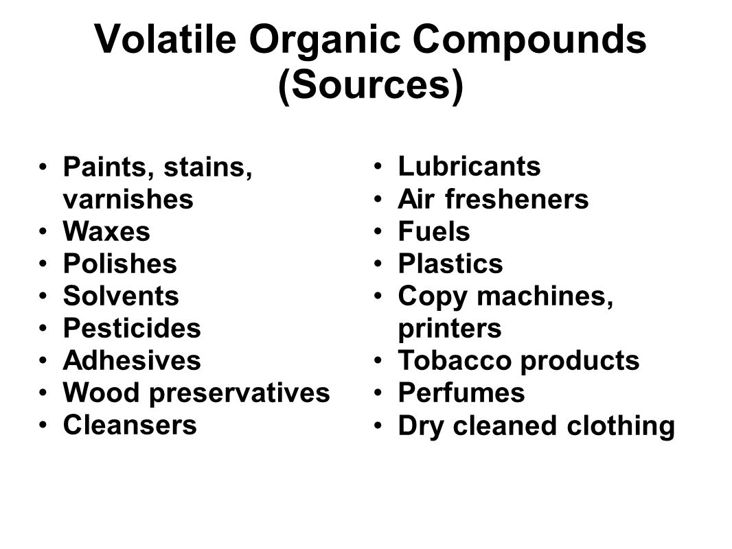 Volatile Organic Compounds (Sources)