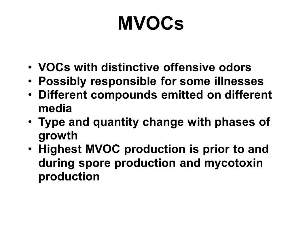 MVOCs VOCs with distinctive offensive odors
