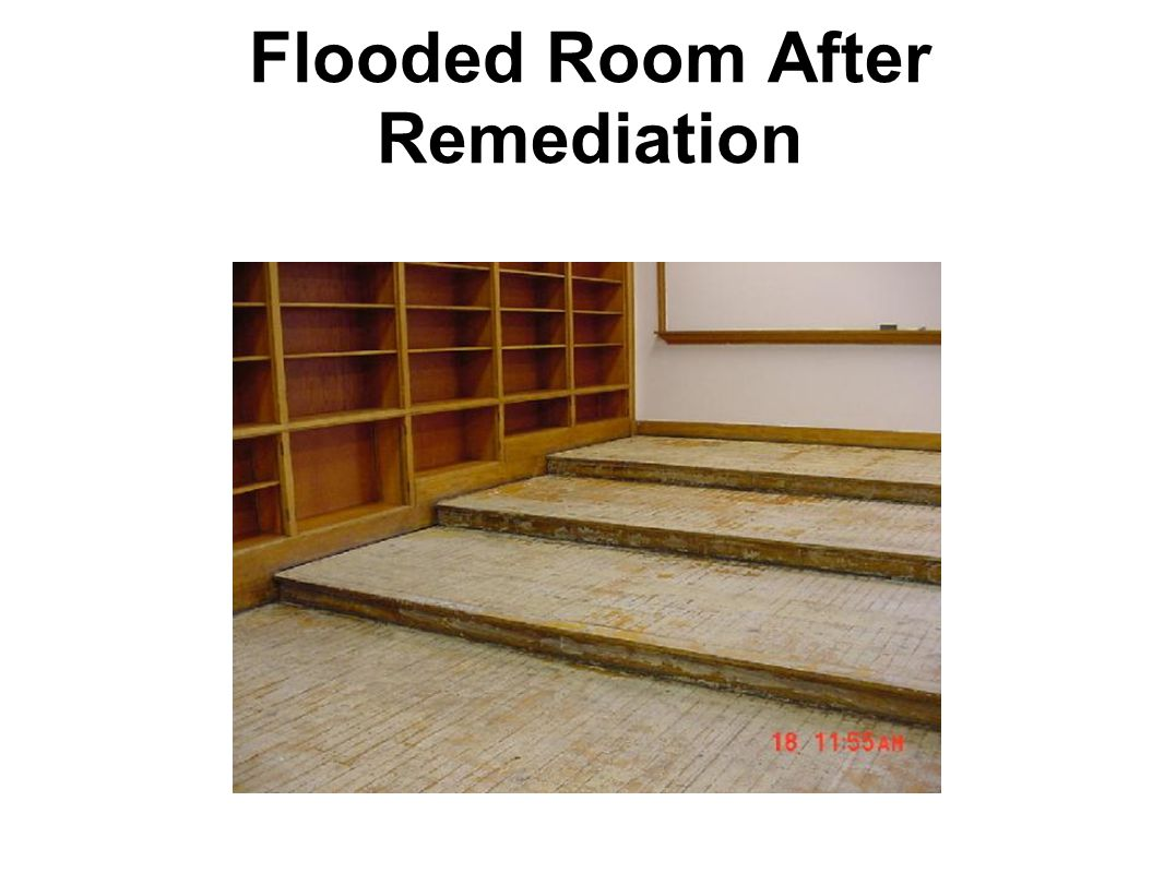Flooded Room After Remediation