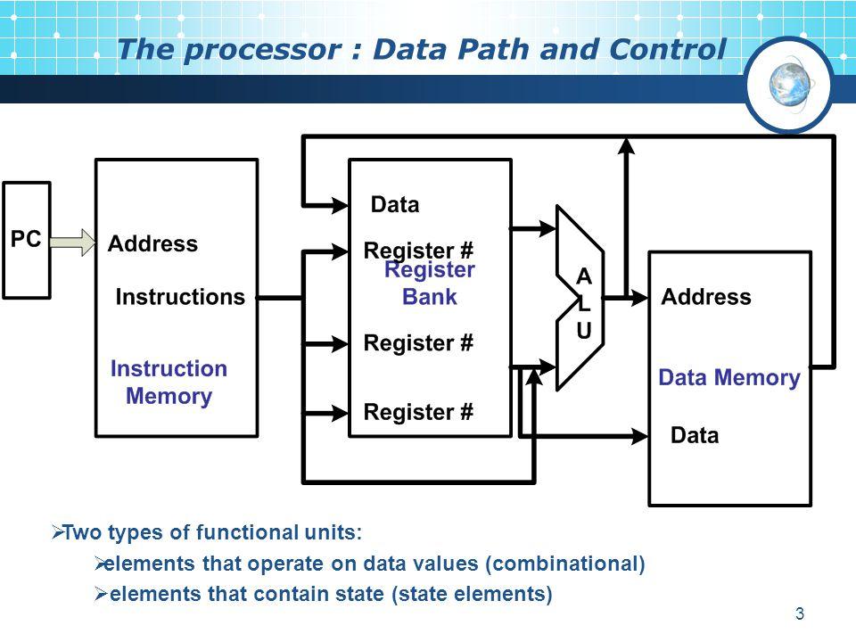 The processor : Data Path and Control
