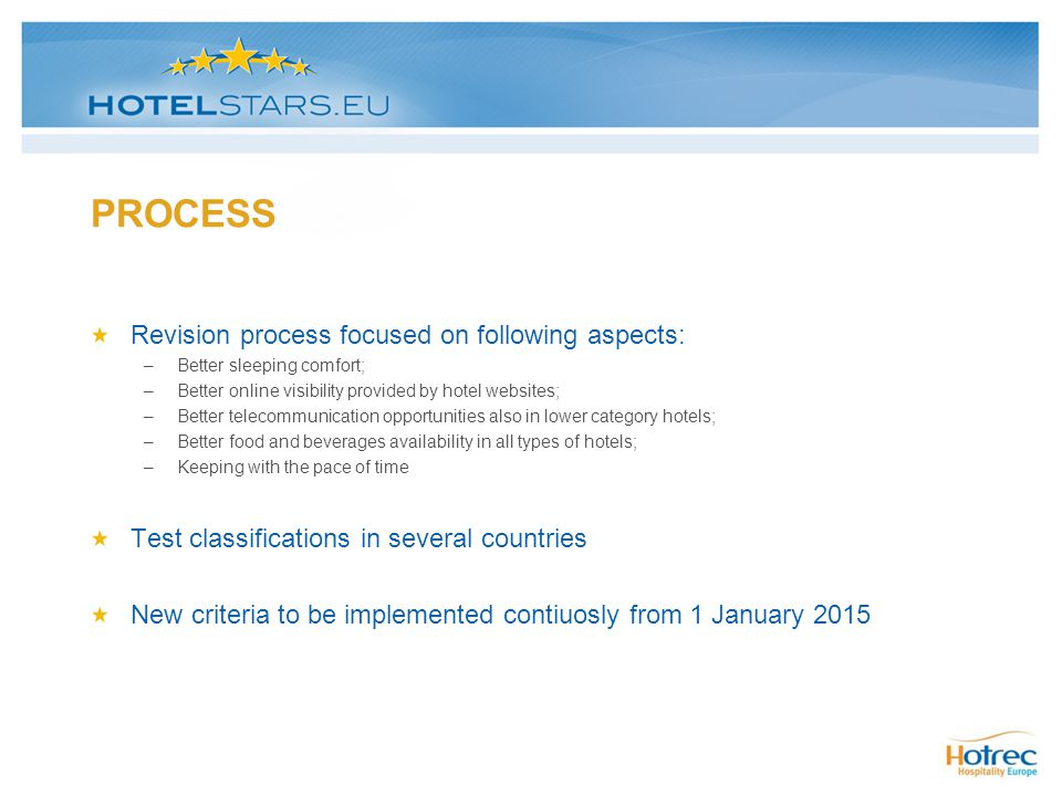 PROCESS Revision process focused on following aspects: