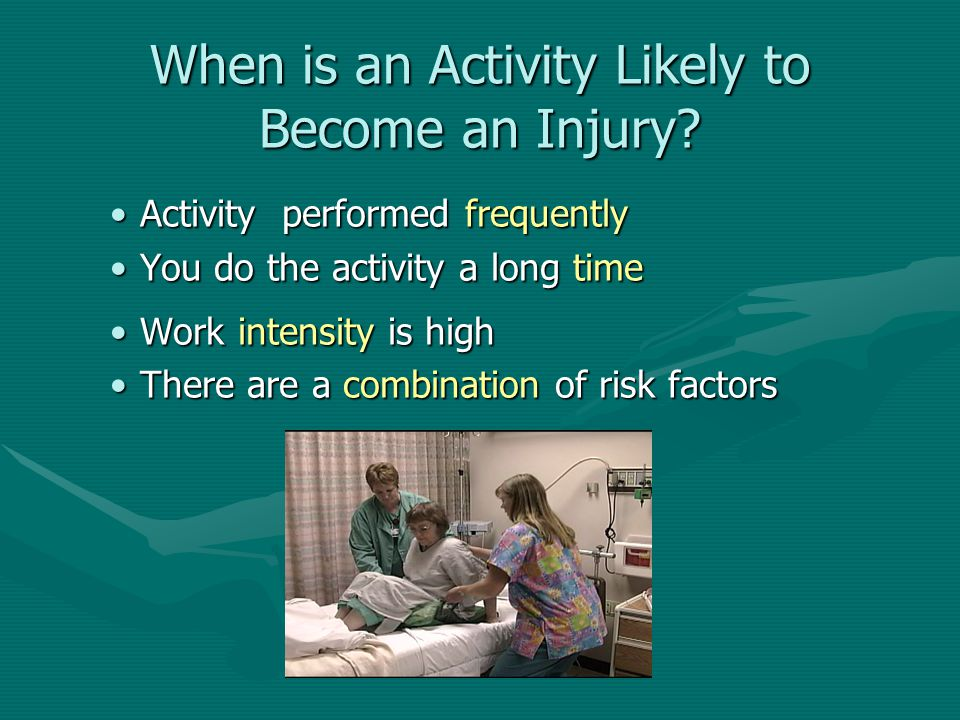 When is an Activity Likely to Become an Injury