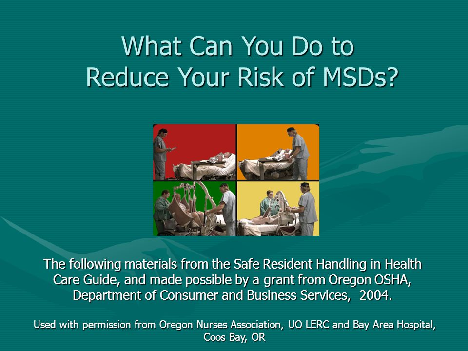 Reduce Your Risk of MSDs