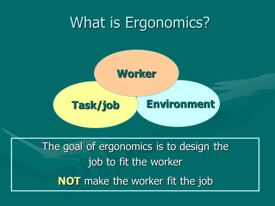 What is Ergonomics Worker Task/job