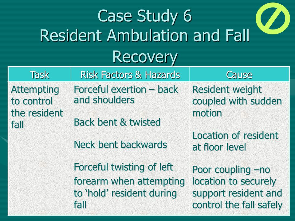Case Study 6 Resident Ambulation and Fall Recovery