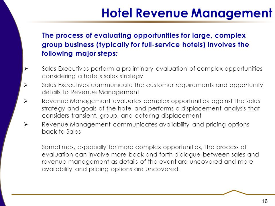 Hotel sales manager business plan