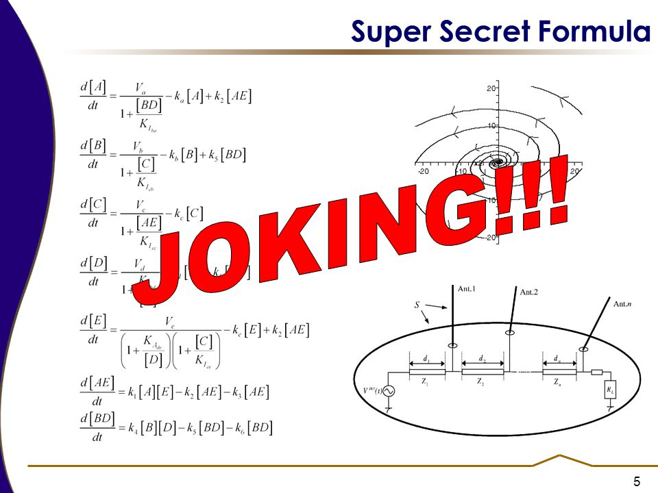 Super Secret Formula JOKING!!!
