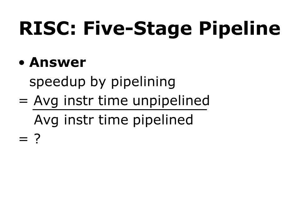 RISC: Five-Stage Pipeline