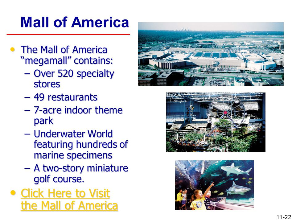 Mall of America Click Here to Visit the Mall of America