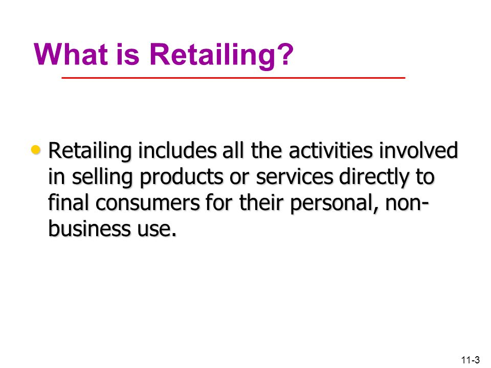 What is Retailing