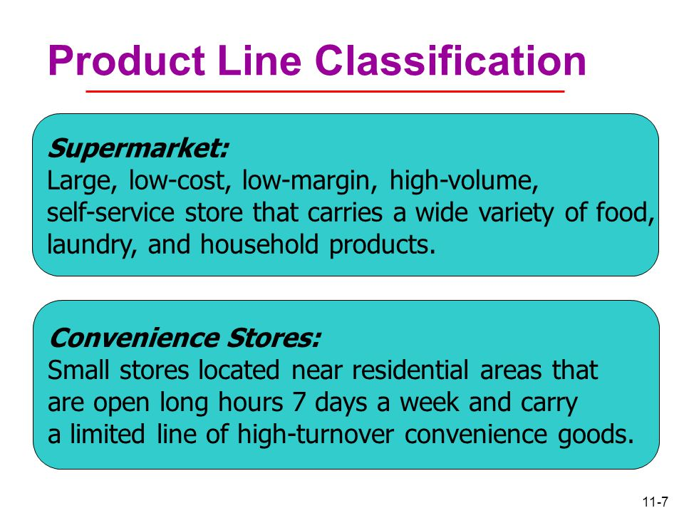 Product Line Classification