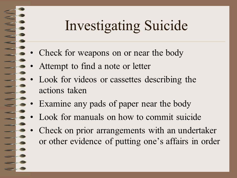 Investigating Suicide