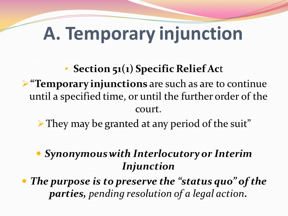 A. Temporary injunction