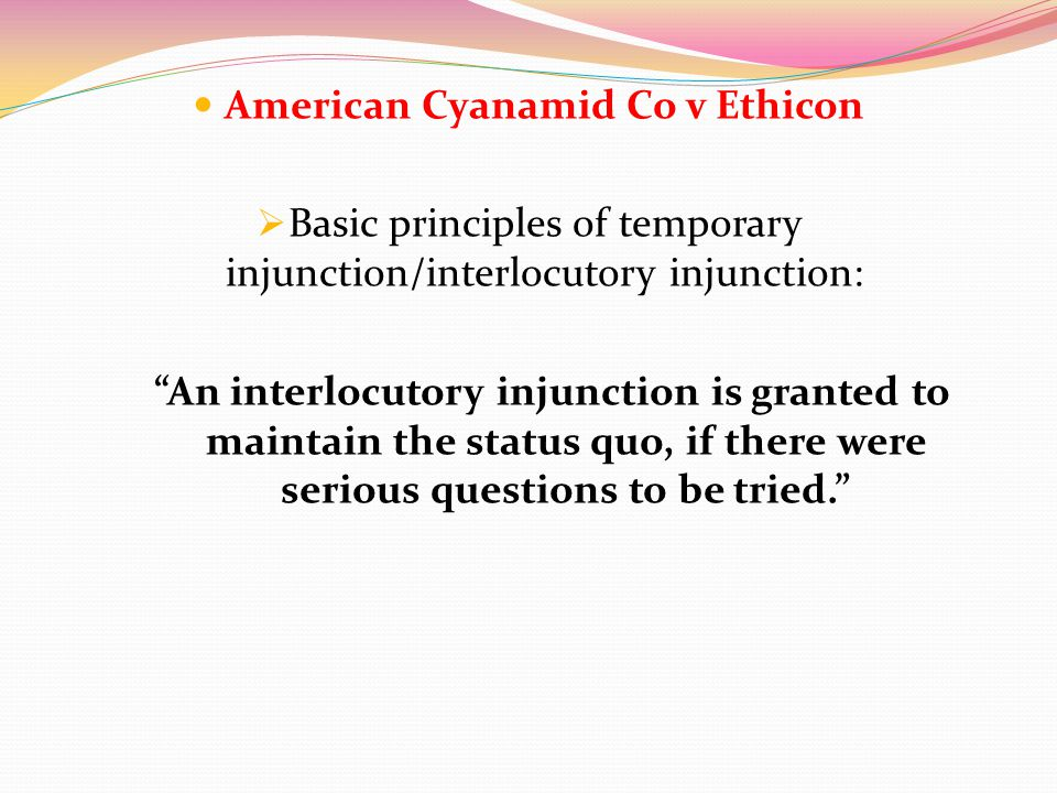 American Cyanamid Co v Ethicon
