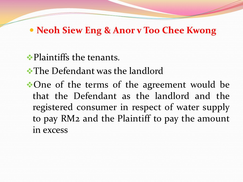 Neoh Siew Eng & Anor v Too Chee Kwong