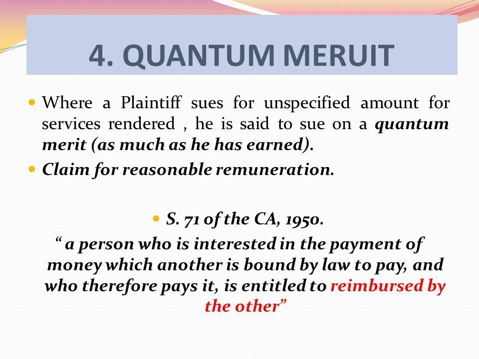 4. QUANTUM MERUIT