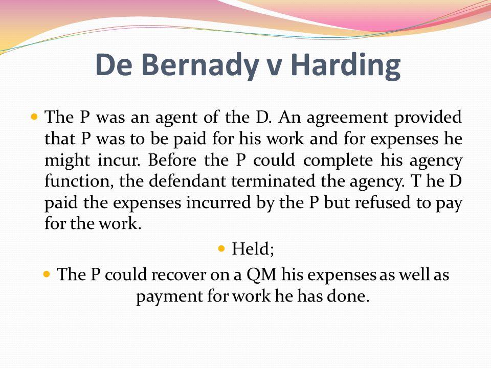 De Bernady v Harding