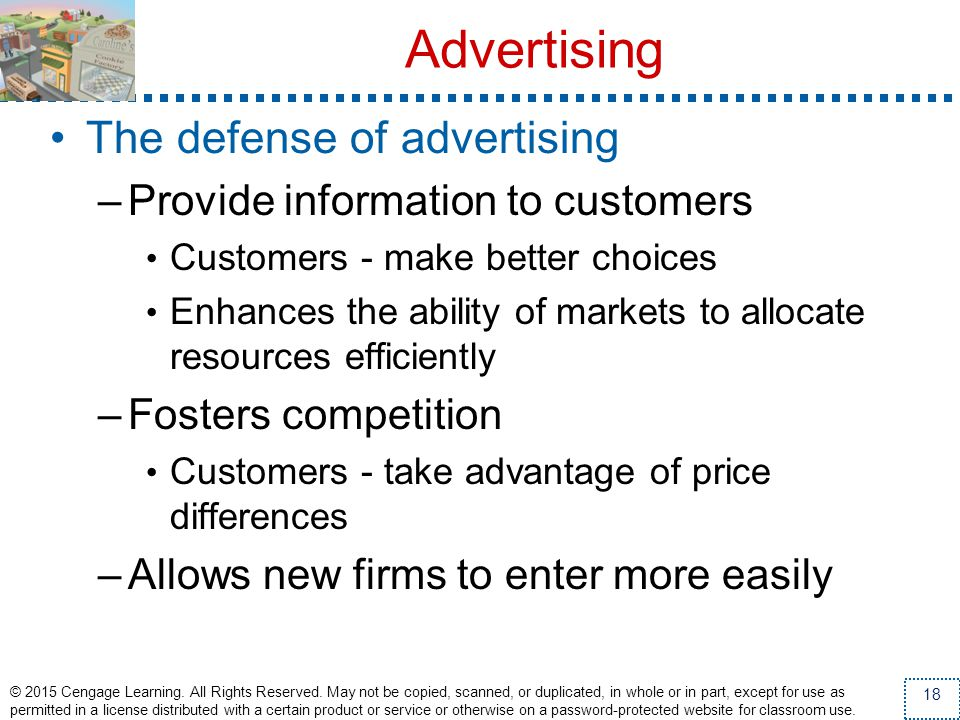 Advertising The defense of advertising